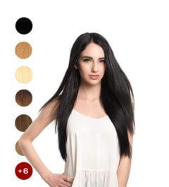 Индийска коса на треса 50см. 100гр.