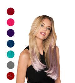 Цветни кичури от индийска коса