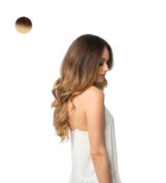 Естествена коса на стикери - омбре
