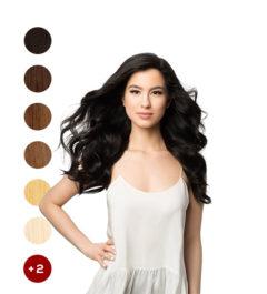Естествена коса на стикери 60см