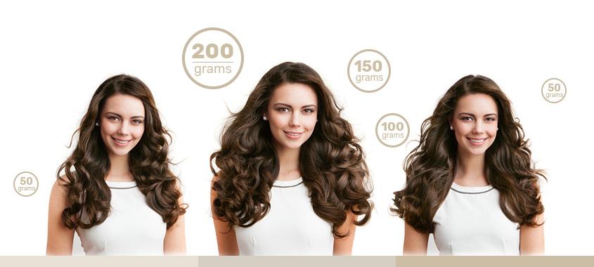 Колко грама екстеншъни за коса ни трябват?